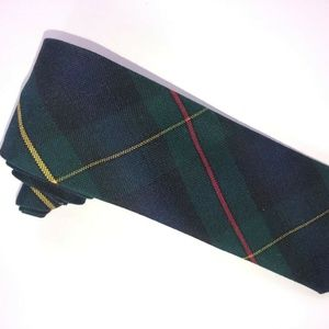 Eldorado Men's Black/Green/Red/Gold Plaid Tie T173